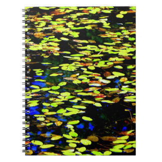 Lilly Pads on Pond Spiral Note Books