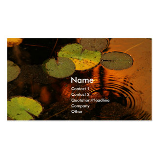 Lilly pads pack of standard business cards
