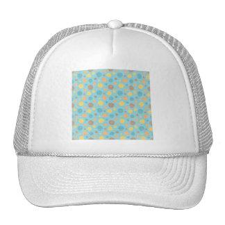 LilMonster FUN DOTS POLKADOTS YELLOW BLUES ORANGE Mesh Hat