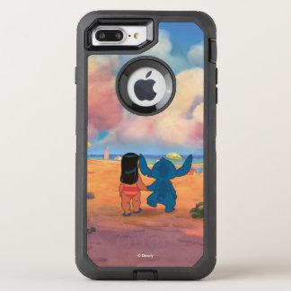 Lilo & Stich |Lilo & Stitch At The Beach OtterBox Defender iPhone 8 Plus/7 Plus Case