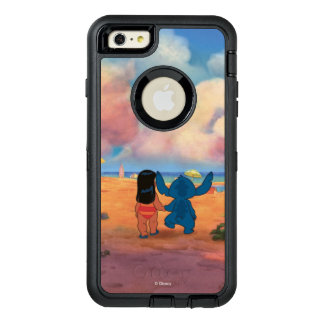 Lilo & Stich |Lilo & Stitch At The Beach OtterBox Defender iPhone Case