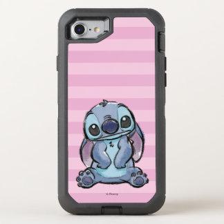 Lilo & Stich   Stitch Sketch OtterBox Defender iPhone 8/7 Case