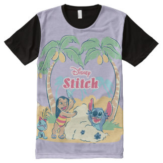 Lilo & Stitch | Come visit the islands! All-Over Print T-Shirt