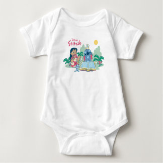 Lilo & Stitch | Reading the Ugly Duckling Baby Bodysuit