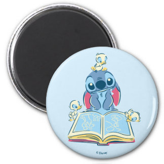 Lilo & Stitch | Reading the Ugly Duckling Magnet