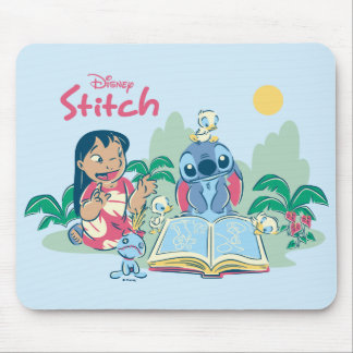 Lilo & Stitch | Reading the Ugly Duckling Mouse Pad