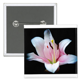 Lily 15 Cm Square Badge