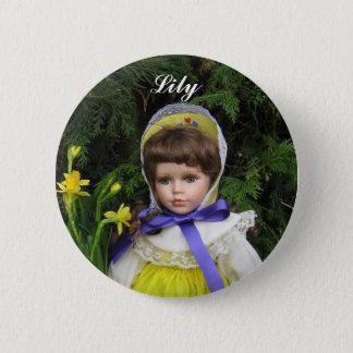 Lily 6 Cm Round Badge