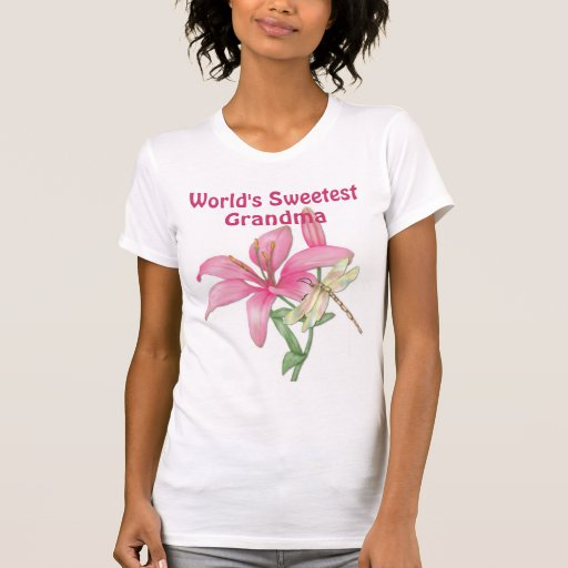 Lily and Dragonfly for Grandma Shirts