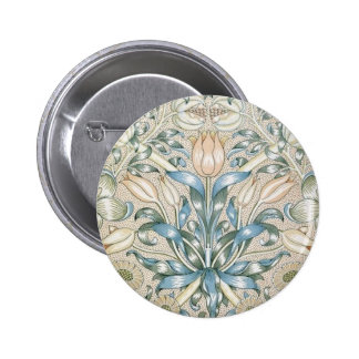 Lily and Pomegranate Vintage Floral Art Design 6 Cm Round Badge