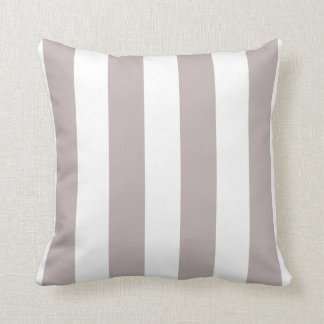 Lily and White Striped Throw Pillow