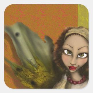 Lily Angel Square Sticker