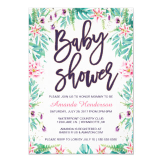 Lily Baby Shower Invitation | Floral Baby Shower