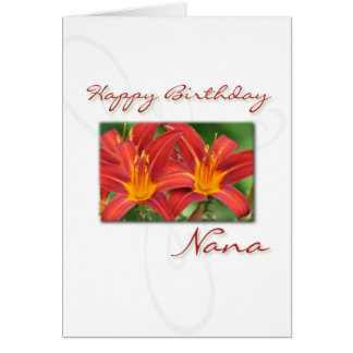 Lily Birthday Card - Nana