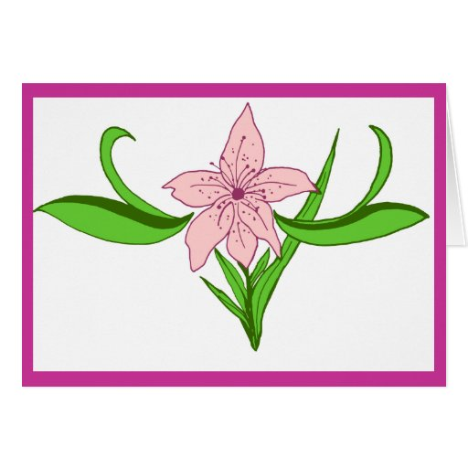Lily blank note card