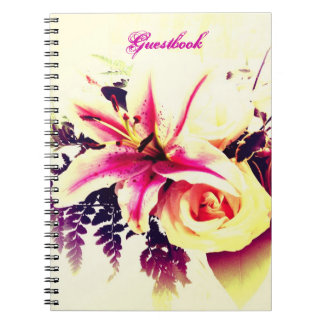 Lily Bouquet - Wedding/ Bridal Shower Guestbook Note Books