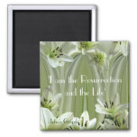 Lily composition square magnet