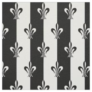 Lily Flower Fleur De Lis Pattern Fabric