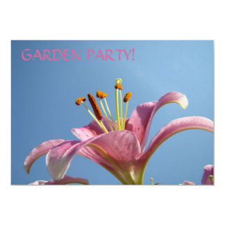 "LILY FLOWER Invitations Blue Sky Garden Parties 5"" X 7"" Invitation Card"