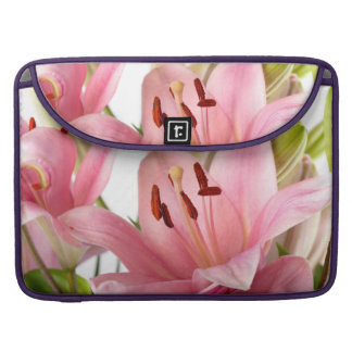 Lily Flowers Sleeve For MacBook Pro