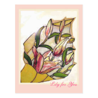 Lily for You ANNIVERSARY cards Postcard