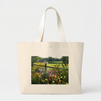 lily garden large tote bag