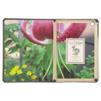 Lily Green Maroon Garden Plant iPad Air Case