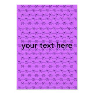 LILY HILL_CARD PURPLE 13 CM X 18 CM INVITATION CARD