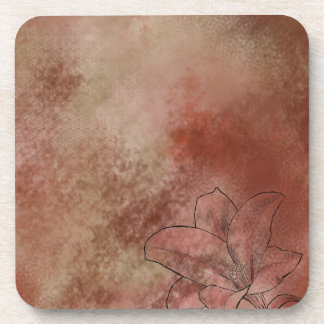 Lily in Brown Beverage Coaster