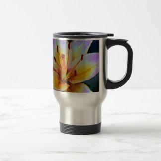 Lily in Rain Travel Mug