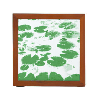 Lily leaves white desk organiser