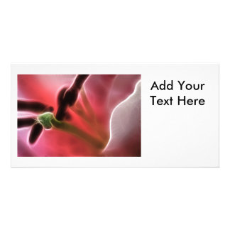 Lily Macro Photo Fractal Photo Card Template