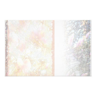 Lily Magnolias, White Blend Stationery
