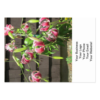 Lily Maroon Green Garden Flower Business Card