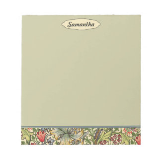 Lily Morris Vintage Floral Personalized Monogram Notepads