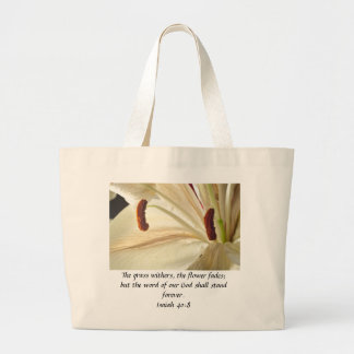 Lily of Light Large Tote Bag