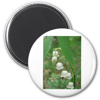 Lily-of-the-valley 6 Cm Round Magnet