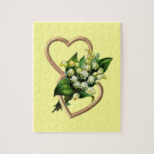 Lily of the Valley and Hearts Jigsaw Puzzle