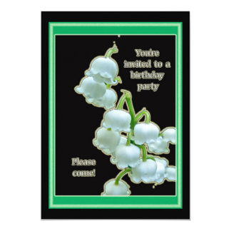 Lily of the Valley Birthday Party Invitation