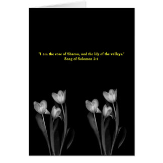"""""""Lily of the Valley"""" Blank Biblical  Card"""