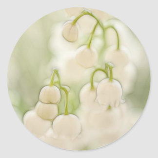 Lily of the Valley Blooms Classic Round Sticker