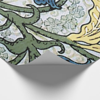 Lily of the Valley Blue Flowers Wrapping Paper