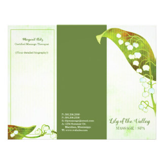 Lily of the Valley Business Tri-Fold Brochure