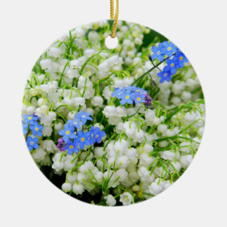 Lily of the valley ceramic ornament
