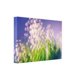 Lily of the Valley Dance in Blue Canvas Print