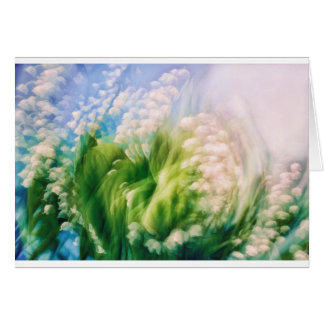 Lily of the Valley Dance in Blue Card