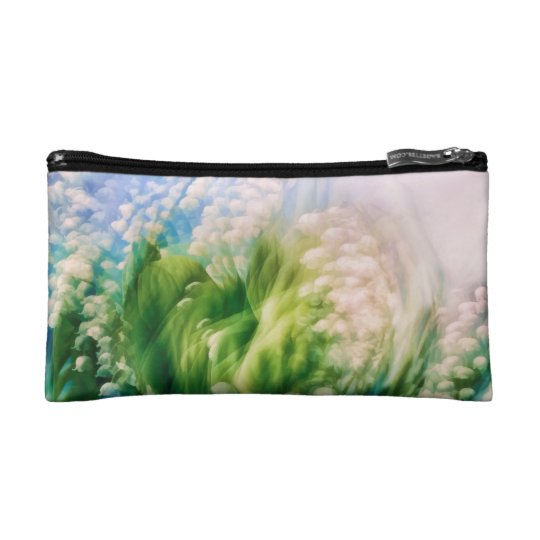 Lily of the Valley Dance in Blue Cosmetics Bags