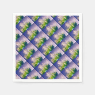 Lily of the Valley Dance in Blue Disposable Serviette