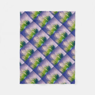 Lily of the Valley Dance in Blue Fleece Blanket