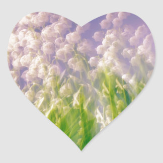 Lily of the Valley Dance in Blue Heart Sticker